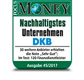 DKB Nachhaltigstes Unternehmen - Focus Money