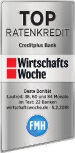 creditplus testsieger wirtschaftswoche 2018