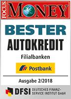 Postbank Bester Autokredit - Focus Money