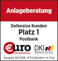 Postbank Anlagenberatung Auszeichnung
