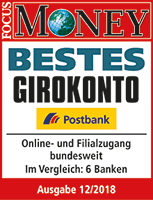 Postbank bestes Girokonto - Focus Money 2018