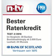 Bank of Scotland Auszeichnung ntv