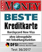 barclaycard New Visa beste Kreditkarte - Focus Money 2017