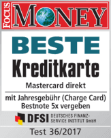norisbank Beste Kreditkarte - Focus Money 2017