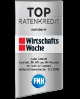 norisbank Auszeichnung Wirtschaftswoche Ratenkredit