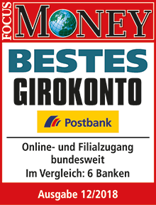 Postbank bestes Girokonto - Focus Money 2018
