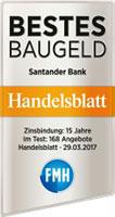 Santander Hanedlsbaltt- Bestes Baugeld