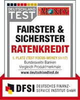 Targobank Fairster Sicherster Ratenkredit - Focus Money