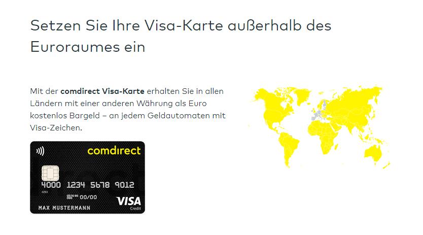comdirect geld abheben ausland screenshot