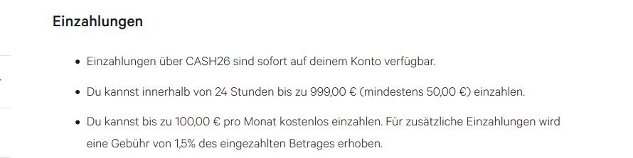 Screenshot N26 Geld Einzahlen
