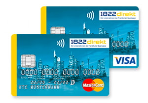 1822 Girokonto Kreditkarten