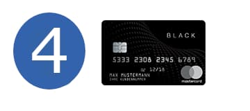 Black And White Prepaid Mastercard