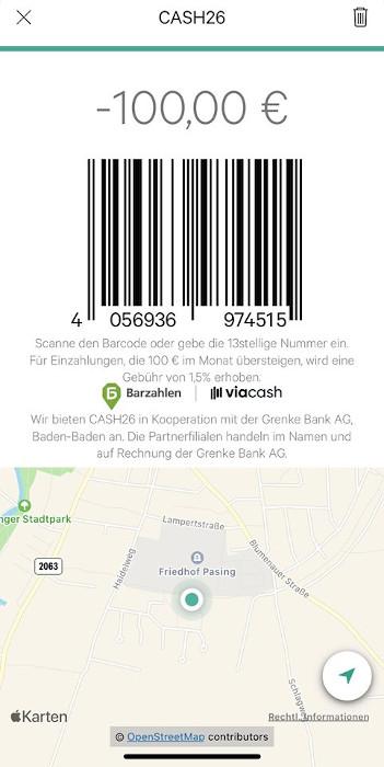 N26 Geld Abheben Barcode