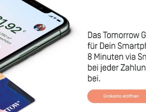 Bietet die Tomorrow Bank nun endlich Apple Pay für Ihre Visa Kreditkarte an?