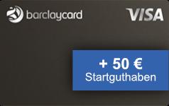 Barclaycard Visa 50 Euro Startguthaben