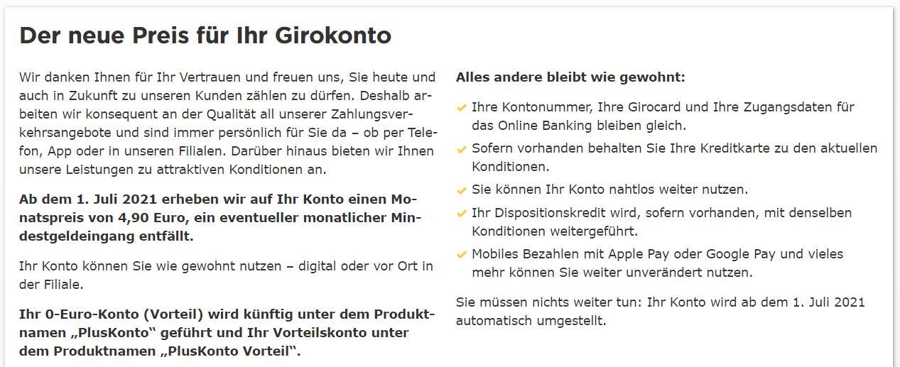 Commerzbank Änderungen Bestandskunden