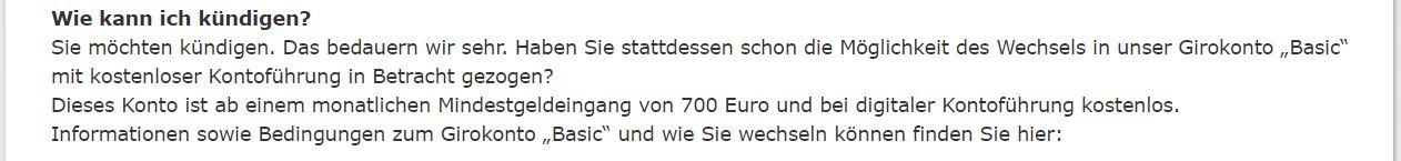 Commerzbank Kündigung